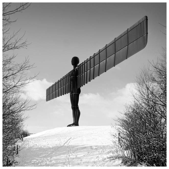 Angel of the North, Print 19 in Black and White