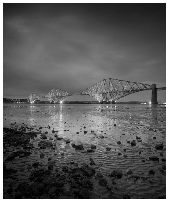 The Forth Rail Bridge, Print 53 in Black and White