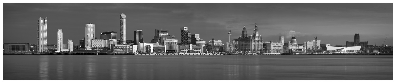 Liverpool Skyline, Print 09 in Black and White