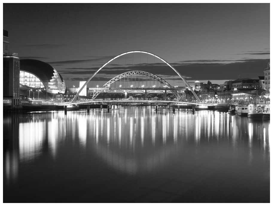 Bridges over the River Tyne, Print 14 in Black and White