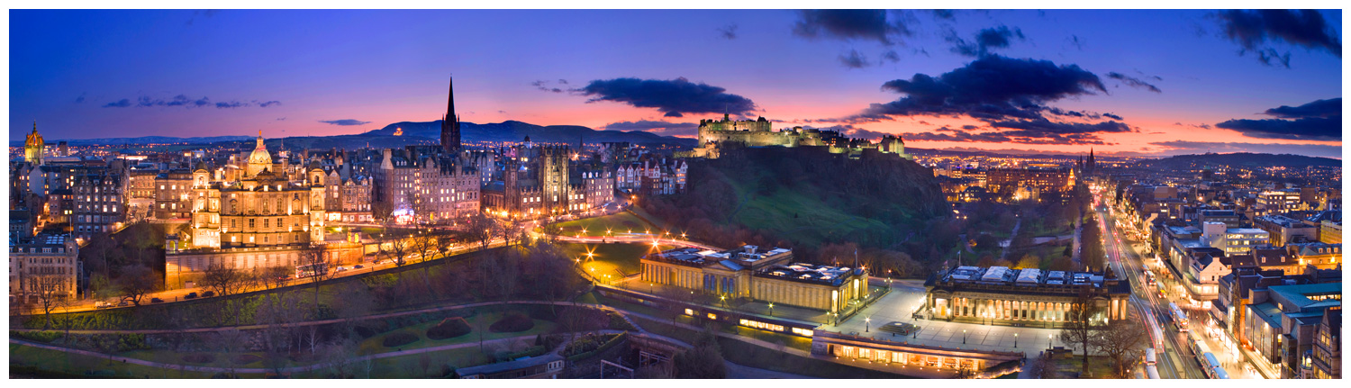 Edinburgh Skyline, Print 24 in Colour